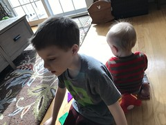 """Paul Plays with Luc and Sam • <a style=""""font-size:0.8em;"""" href=""""http://www.flickr.com/photos/109120354@N07/49719920178/"""" target=""""_blank"""">View on Flickr</a>"""