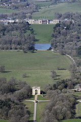 Photo of Corinthian Arch & Stowe School aerial image