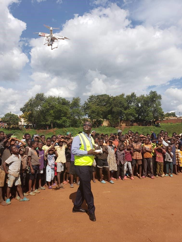 Photo 3. Department of Civil Aviation conducting community sensitization in Dowa District