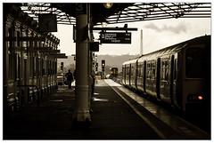 Photo of Huddersfield in the rain.