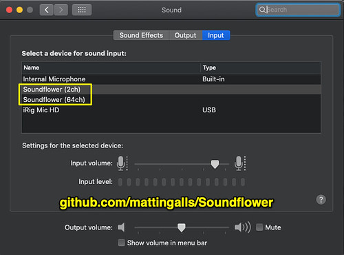 Soundflower Installed on MacOS by Wesley Fryer, on Flickr