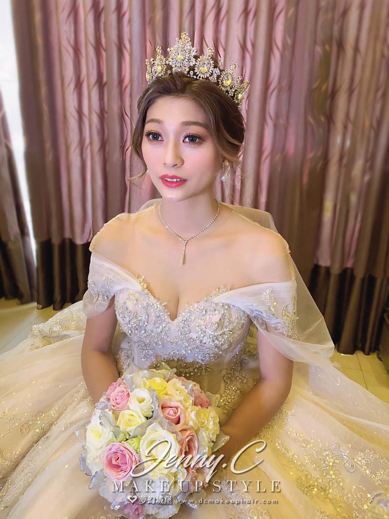 【新秘蓁妮】bride 雅雲 訂結婚造型 / 華麗女神風