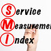 SMI - Service Measurement Index acronym with marker, concept background