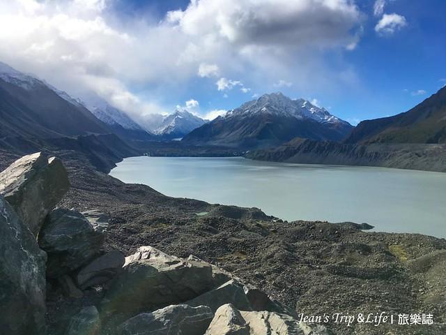 庫克山塔斯曼冰河觀景點可以看到非常美的冰河