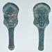 Pair of bronze prometopedia from Ruvo di Puglia