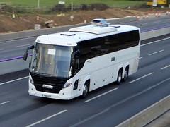 Photo of YN18 AUR - Scania K410EB6 - Higer Touring - Skills Coaches - M1 at Milton Keynes 08Mar20