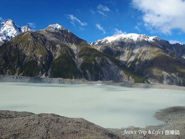 庫克山塔斯曼冰河被群山環繞