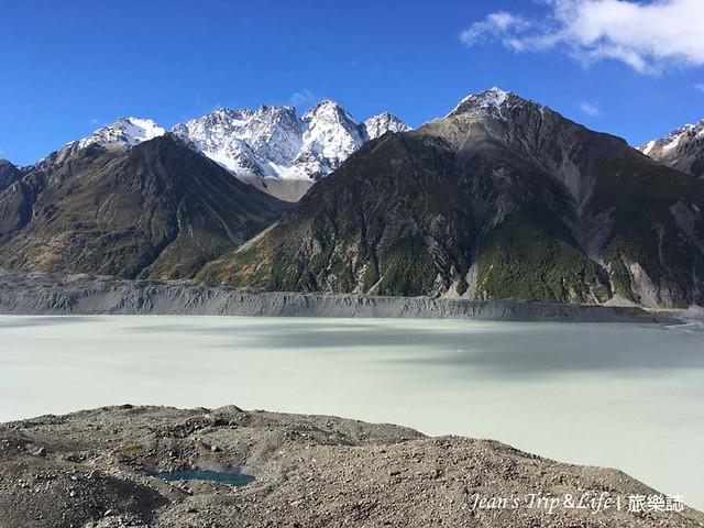 庫克山塔斯曼冰河Tasman Glacier  View 有綠豆沙顏色的湖水