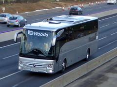 Photo of BV19 YLM - Mercedes-Benz Tourismo M2 - Woods Coaches - M1 at Milton Keynes 08Mar20