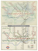 London Underground - diagram of lines/railway map comparison 1938 and 1948