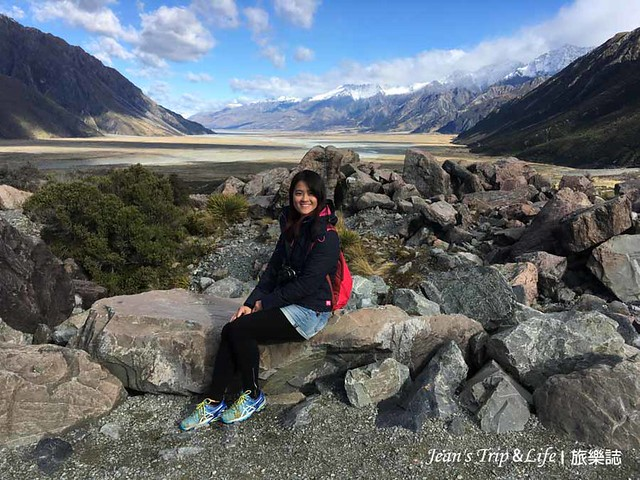 庫克山塔斯曼冰河與藍湖 Tasman Glacier  View and Blue Lakes