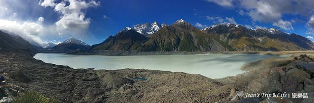 庫克山塔斯曼冰河有綠豆沙的顏色