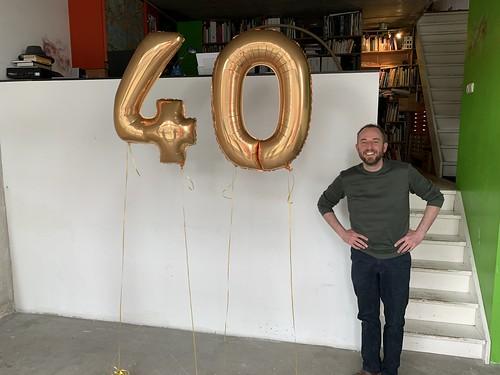 Folieballon Cijfer 40 Gedempte Zalmhaven Rotterdam