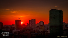 Sunset over the skyline of Phnom Penh