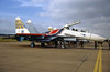 2206918/18 Blue. Russian Knights Sukhoi Su-27UB Flanker C