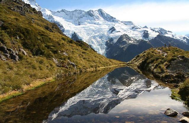 紐西蘭庫克山Sealy Tarns 西利塔恩斯步道