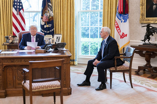 President Trump and Vice President Pence by The White House, on Flickr