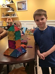 """Paul Builds a Magnatile Pyramid for Art • <a style=""""font-size:0.8em;"""" href=""""http://www.flickr.com/photos/109120354@N07/49728475478/"""" target=""""_blank"""">View on Flickr</a>"""