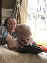 """Luc Watches Videos on Mommy's iPad • <a style=""""font-size:0.8em;"""" href=""""http://www.flickr.com/photos/109120354@N07/49729045366/"""" target=""""_blank"""">View on Flickr</a>"""