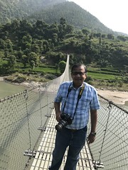 The suspension foot bridge was l-o-n-g- even longer than the one I'd seen in Azerbaijan