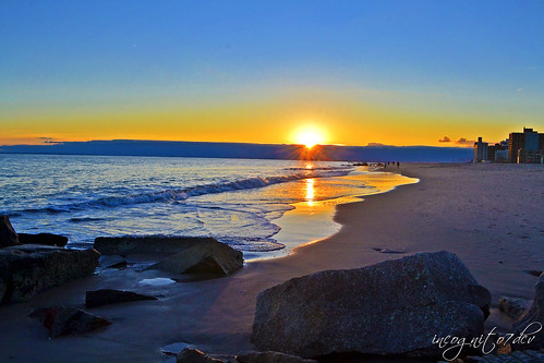 Sunset on Coney Island Beach Brooklyn New York City NY P00486 DSC_3185