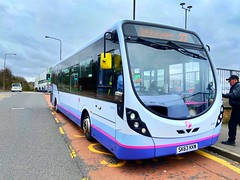 Photo of First WestLothian (SK63 KKM - 47451) is operating the 27 to Ladywell, seen here at Almondvale East Rd.