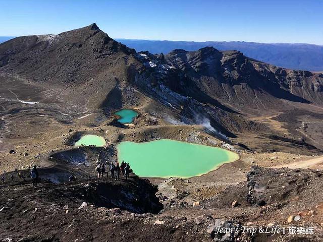 紐西蘭東加里羅末日火山中的3個美麗的翡翠湖