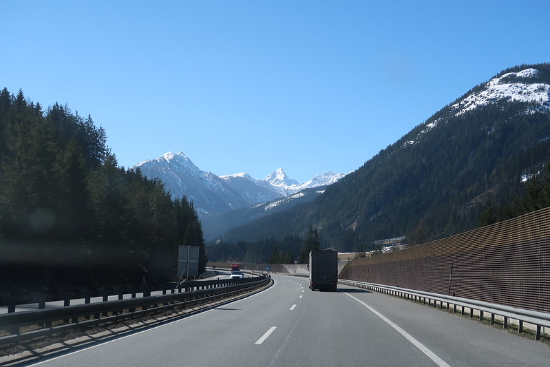 Driving across Europe for isolation