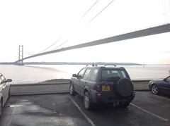 Photo of Freelander under Humber Bridge