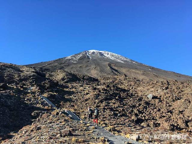 瑙鲁赫伊(Mt. Ngauruhoe) 白雪山峰