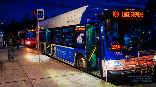 Two CT Buses at Mariner Park & Ride