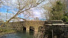 Photo of The River Windrush. Old Minster Lovell Oxfordshire UK.