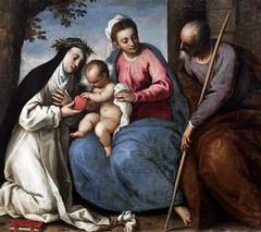 IMG_4430F Palma il Giovane (Jacopo Negretti) 1548-1628 Venise The Holy Family with Saint  Theresa of Avila  1615-1620 Bergamo Accademia Carrara