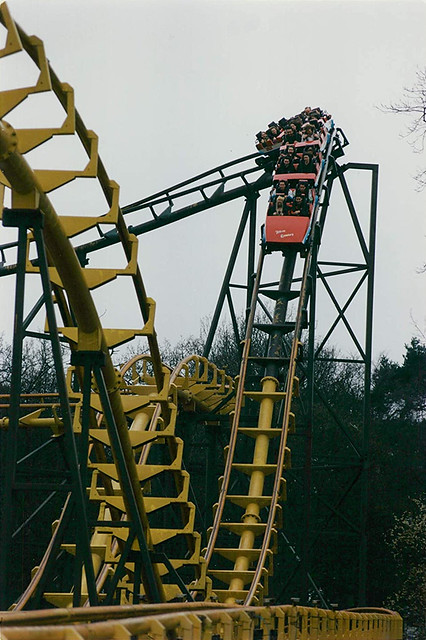Corkscrew of Nemesis' opening day in March 1994