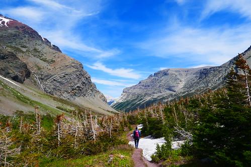 Glacier NP - Trail vers le lac Cracker