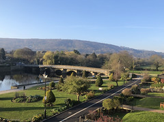 Photo of Otley Bridge and Wharfedale in spring sunshine