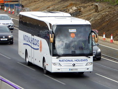 Photo of NH17 FFH - Mercedes -Benz Tourismo - National Holidays -  M1 at Milton Keynes 14Mar20