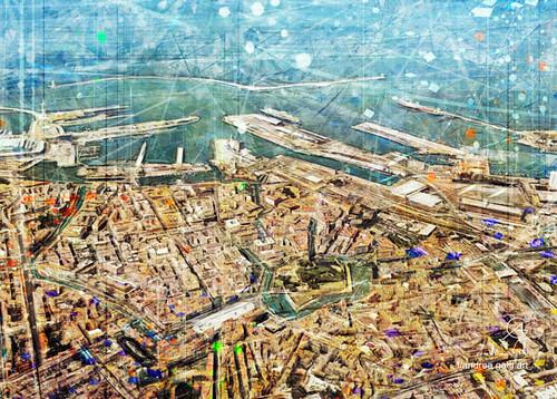Livorno aerial panorama