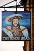 Pub sign for The Kings Head, Barnet.