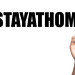 #stayathome text with marker, concept background