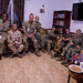 British armed forces members host coalition social at Combined Joint Task Force - Horn of Africa.