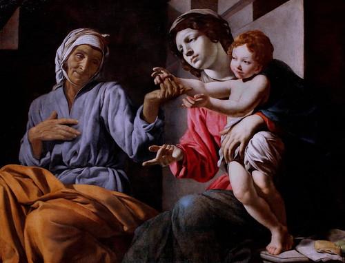 IMG_2577FA Giovanni Battista Caracciolo  (Battistello)  1578-1635  Naples Vierge à l'enfant et sainte Anne Virgin Mary with Child and St Anne vers 1633 Vienne Kunsthistorisches Museum