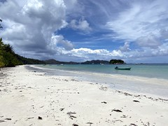 Anse Volbert beach, Praslin, Seychelles