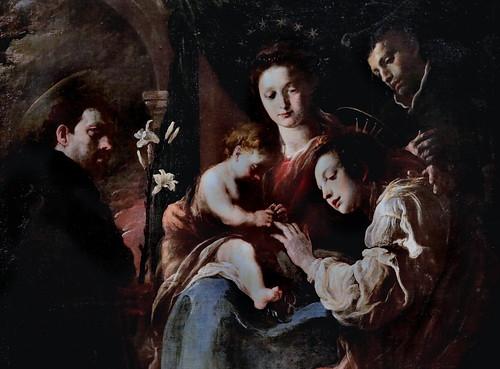 IMG_2524CA Domenico Fetti 1588-1623  Venise, Mantoue Le mariage mystique de sainte Catherine  The mystical marriage of Saint Catherine  1617-1621 Vienne Kunsthistorisches Museum