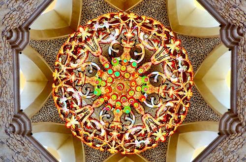 Kronleuchter/chandelier, Sheikh Zayed Grand Mosque, Abu Dhabi