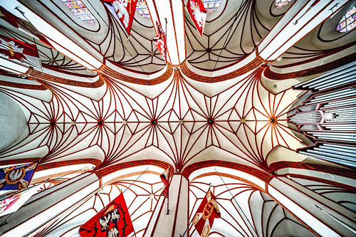 Ceiling of the St. John's Archcathedral in Warsaw which is a Roman Catholic church in Warsaw's Old Town, Poland. 894a