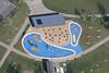 Aerial view of Milton Keynes Splash N Play at Willen Lake