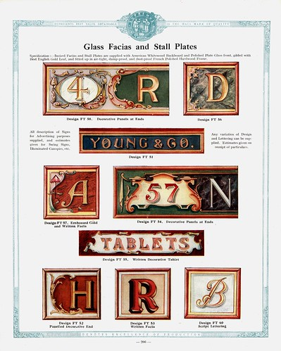 Young & Marten. Glass Facias and Stallplates for Shop Fronts .