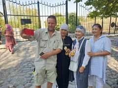 Tor Erling with local Kyrgyz ladys.