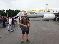 Ready to fly to Tadjikistan.
